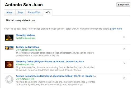 Imagen perfil de cuenta de Google mostrando los +1
