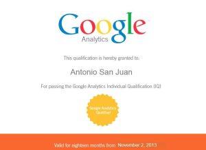 GAIQ Certificación de Google Analytics 2013