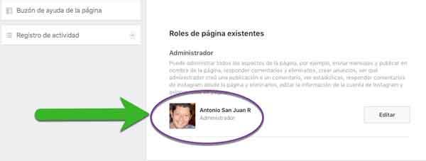 Mostrar administradores en Facebook 5