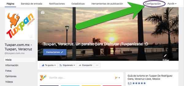 Mostrar administradores en Facebook