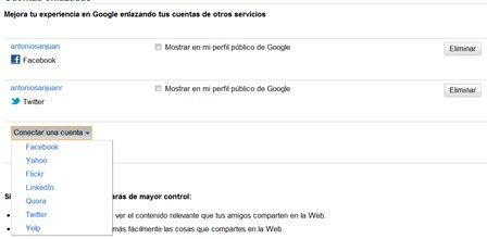 Como conectar Twitter y Facebook a la cuenta de Google