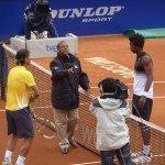 Foto partido Nadal vs Monfis Barcelona 2011