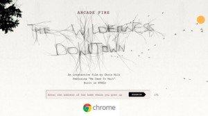 Experimento Chrome y Arcade Fire HTML5
