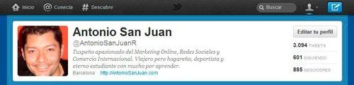 Imagen del perfil de Consultor de MArketing Online en Twitter