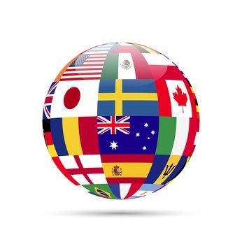 Imagen con banderas de diferentes países