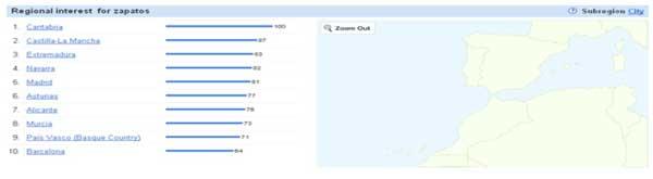 Captura de pantalla de búsqueda en Google Trends