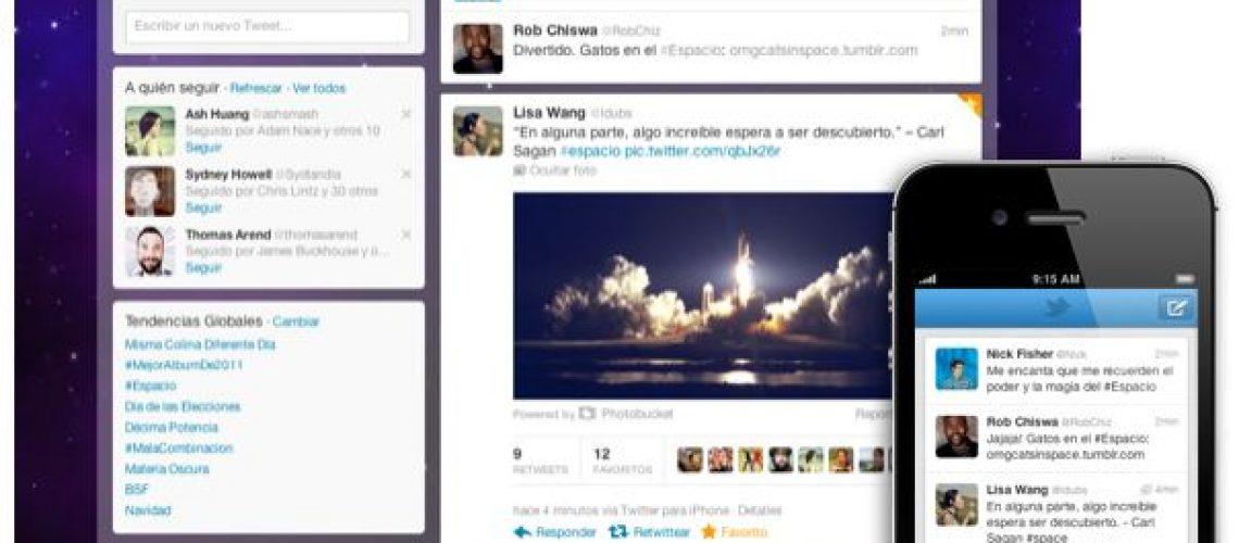 Nuevo diseño Twitter 2011
